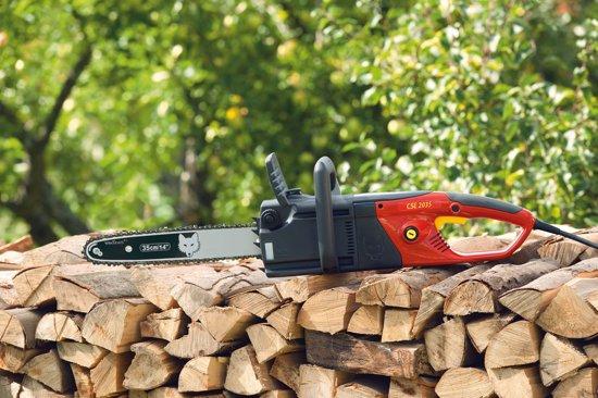 """WOLF-Garten Elektrische kettingzaag CSE 2035 - zwaardlengte 35 cm - 230 V - 2.200 W - kettingsmering - Oregon zwaard - 3/8""""Low Pro ketting"""