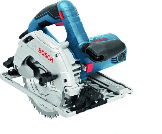 Bosch Professional GKS 55+ GCE Cirkelzaag - 1350 Watt - 63 mm zaagdiepte - Inclusief zaagblad, FSN 1600 Geleiderail en L-BOXX