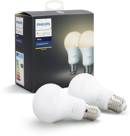 Philips Hue - White  - Ledlamp - E27 - duopack