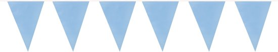 24 stuks: Vlaggenlijn - babyblauw - 190 m