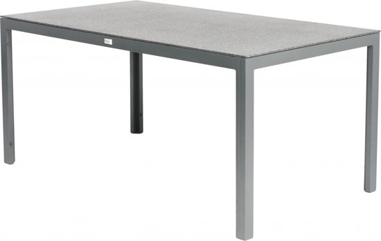 Tuintafel Zo Goed Als Nieuw.Tuintafel Claro Spraystone Blad Aluminium Frame Grijs 160x90cm