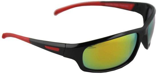 f85cf8b7cb13d7 Zonnebril Sport Rechthoek Polariserend Glas Zwart Geel Meerkleurig GRATIS  Brillenkoker