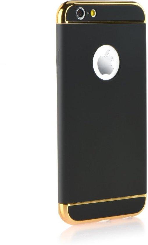 Iphone 7/8 PLUS  3in1 Siliconen TPU hoesje met frame Zwart Goud