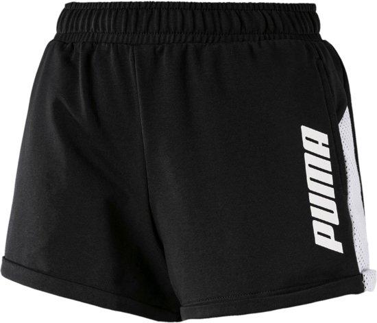 Puma Modern Sport Short  Sportbroek - Maat S  - Vrouwen - zwart/wit