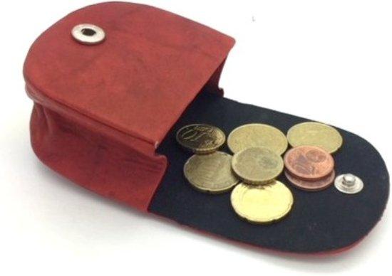 Kleingeld zakje leder rood 40499