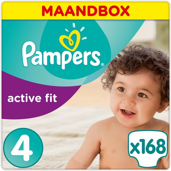 Pampers Active Fit - Maat 4 Maandbox - 168 Luiers