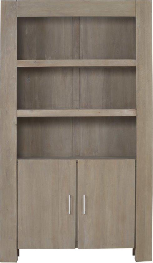 bol.com | Boekenkast Hannu, boekenkast 110 cm breed, 2 deuren, 3 ...