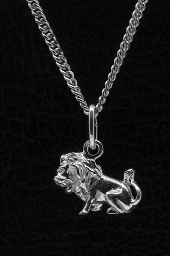 Zilveren Sterrenbeeld Leeuw ketting hanger - klein