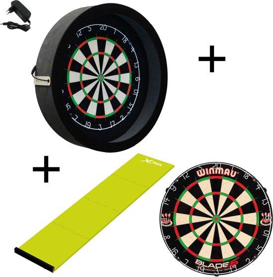 Dragon - Sorpresa PRO - Complete PRO - zwart-groen - winmau blade 5 - xq-dartmat - dartbord verlichting