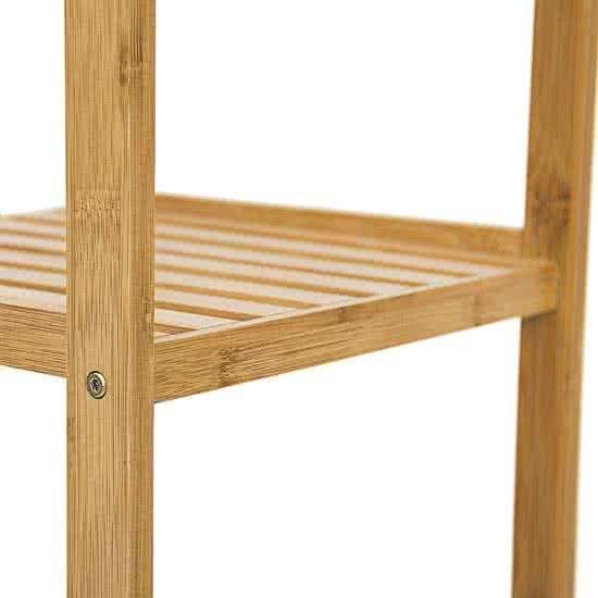 Relaxdays Kast Bamboe Hout 3 Planken Open Kastje Badkamerkast Badkamermeubel 33x79x33