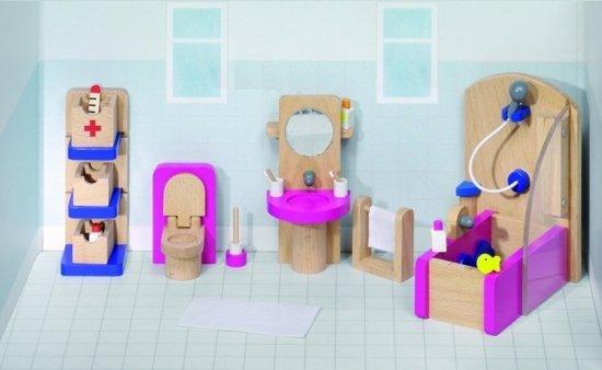 Badkamer Voor Poppenhuis : Bol goki houten poppenhuis badkamer delig goki speelgoed
