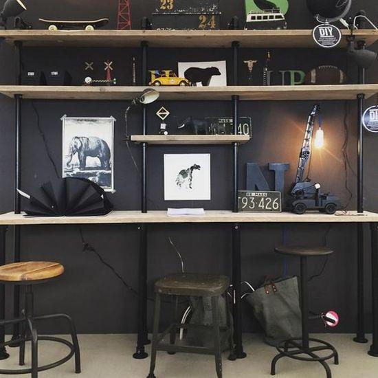 Design85 Steigerbuizen Kast Wand
