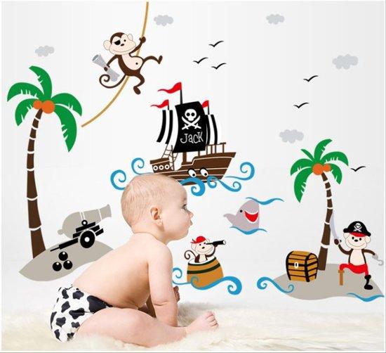 Muurstickers Kinderkamer Piraat.Bol Com Vrolijke Stoere Premium Prachtige Muursticker Piraten