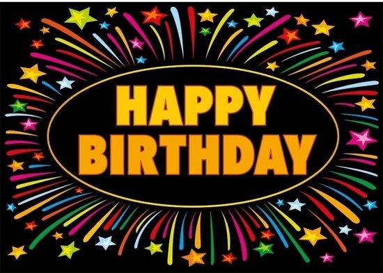 Bol Com Verjaardagskaart Happy Birthday 21 X 14 8 Cm