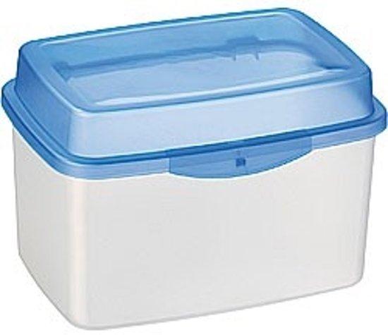 Sunware voorraaddoos 5.6 liter - transparant met blauwe deksel - luchtdicht en vriesvast