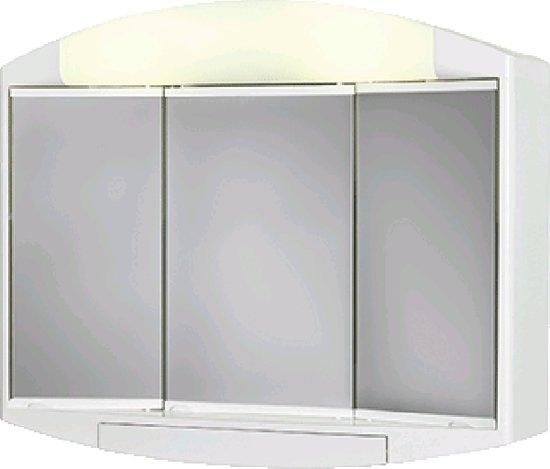 Differnz topas eco spiegelkast 3 deurs met for Spiegelkast 50 cm breed