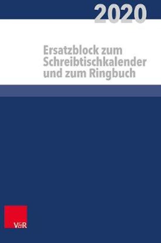 Pfarrerkalender / Pfarrerinnenkalender a Ersatzblock.