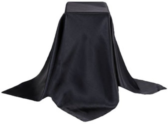 zwarte zijden sjaal