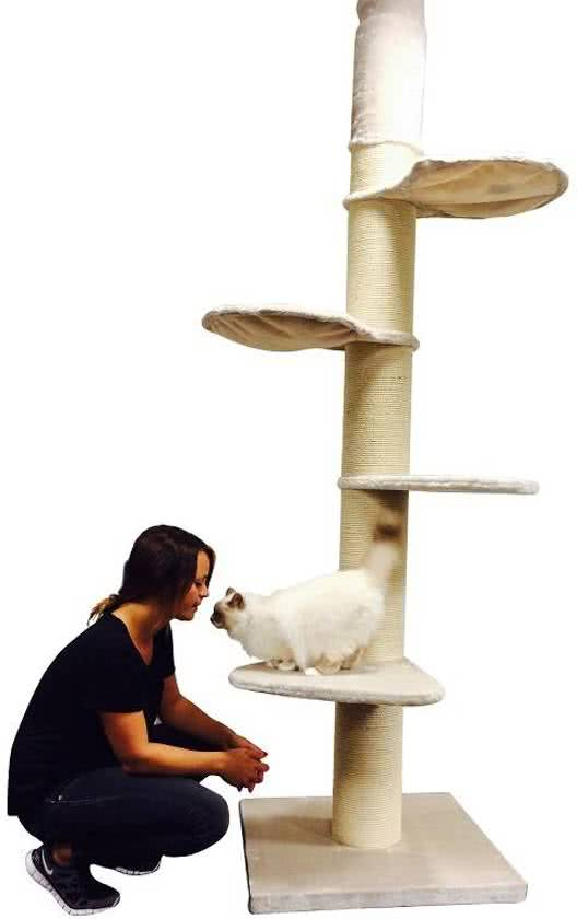 RHRQuality Krabpaal Maine Coon Tower Crème Wit