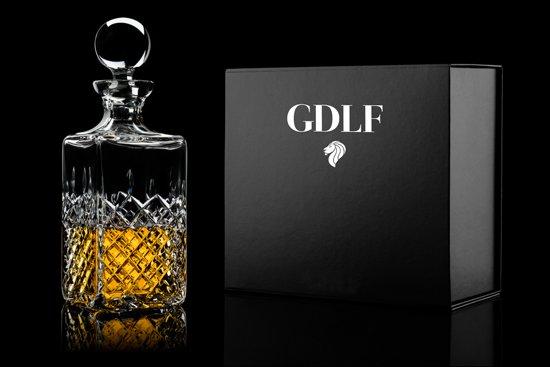 Handgeslepen Kristallen Whisky Karaf Royal in Giftbox by GDLF