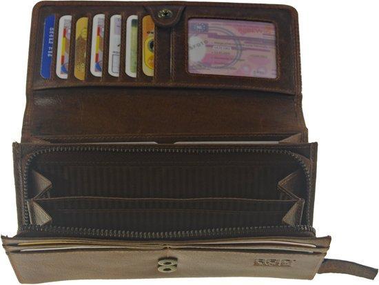 52e4d32f460 bol.com | Castillo GAZ RFID dames portemonnee leer bruin