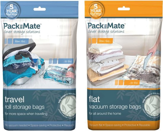 Packmate Vacuum Opbergzakken Bag Set 6 pcs. Space Savers