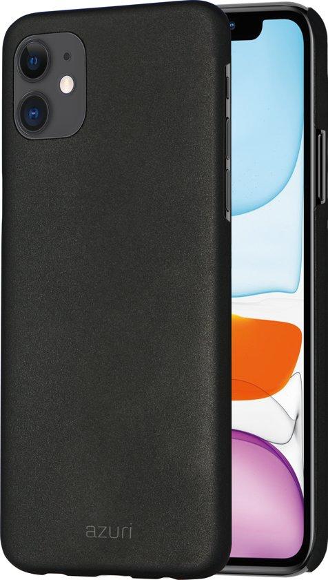 Azuri metallic cover met soft touch coating - Zwart - Voor Apple iPhone XR & Apple iPhone 11