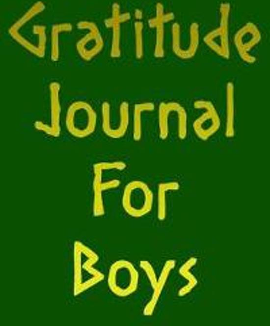 Gratitude Journal for Boys