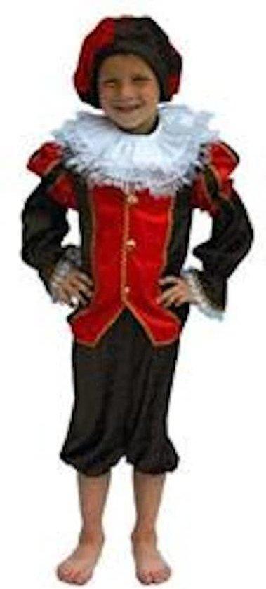 Zwarte Piet Kostuum Rood/Zwart mt 116
