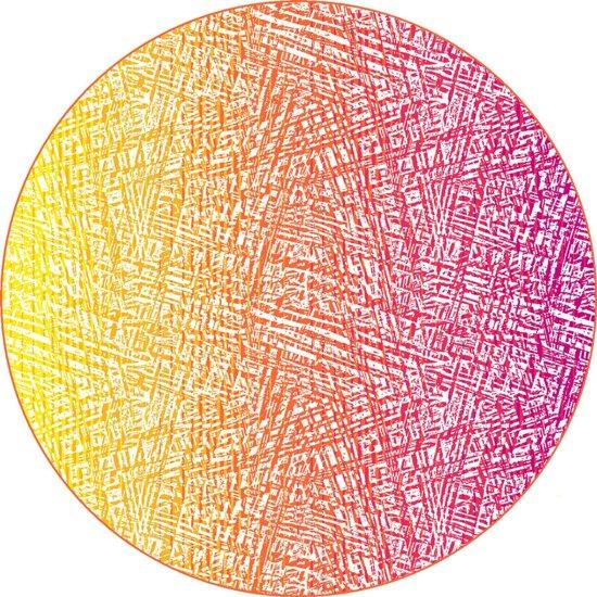Strandlaken Isento - Multi Oranje - 180x180cm - Rond