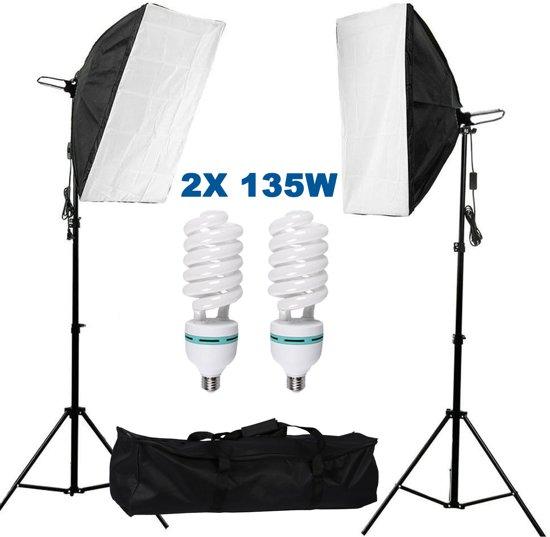 Wonderlijk bol.com   Studiolampen set 135W - 2x fotolamp fotografie softbox ME-68