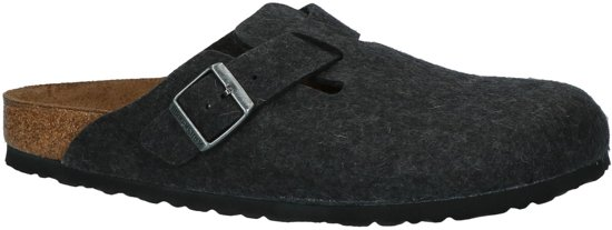 Birkenstock - Boston - Comfort slippers - Heren - Maat 42 - Grijs - Anthracite W
