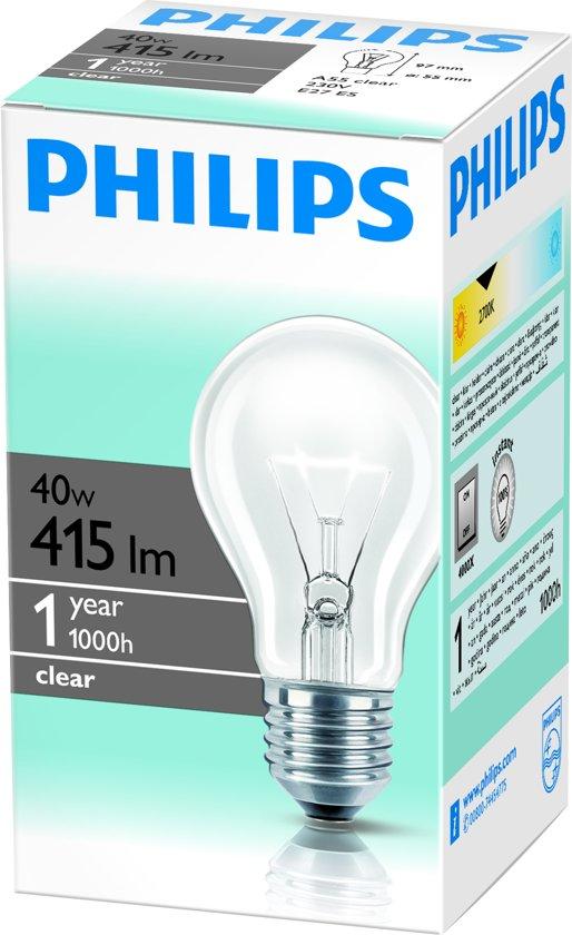 Philips Gloeilamp Helder Normaal 40W E27