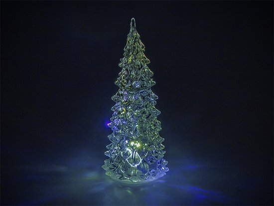 Feest-kerstverlichting Kerstboom RGB Transparant - 12 cm