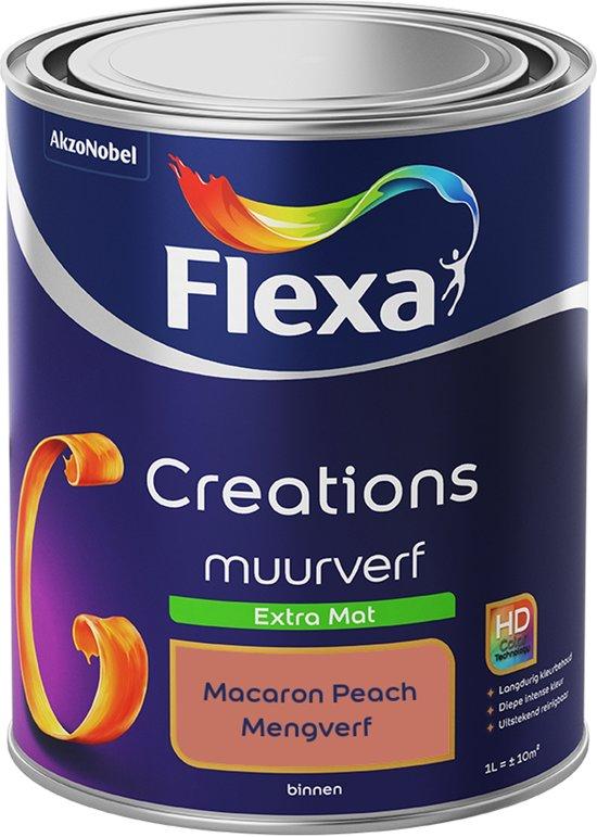 Flexa Creations - Muurverf Extra Mat - Macaron Peach - Mengkleuren Collectie- 1 Liter