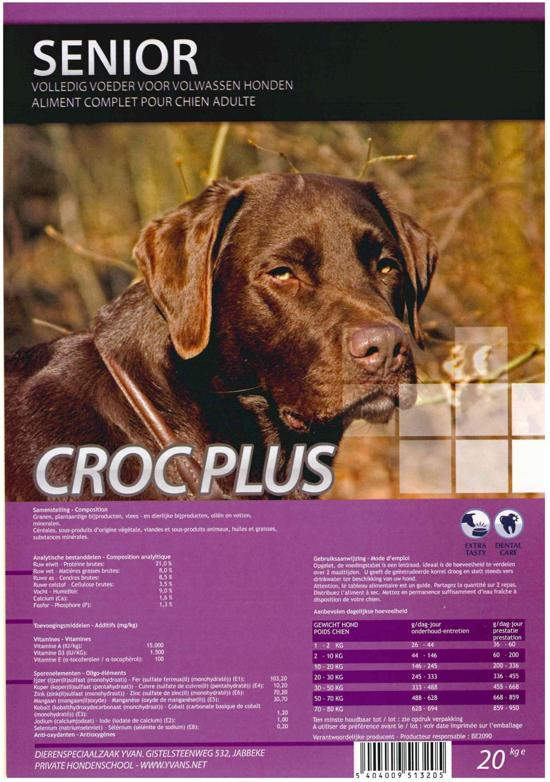 Croc Plus Hondenbrokken - 20 kg - Senior