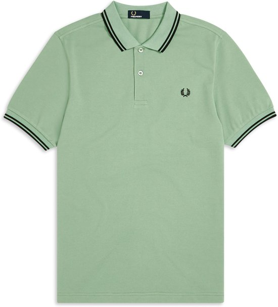 Fred Perry - Twin Tipped polo Shirt - Hedgerow Green -  Heren - maat S