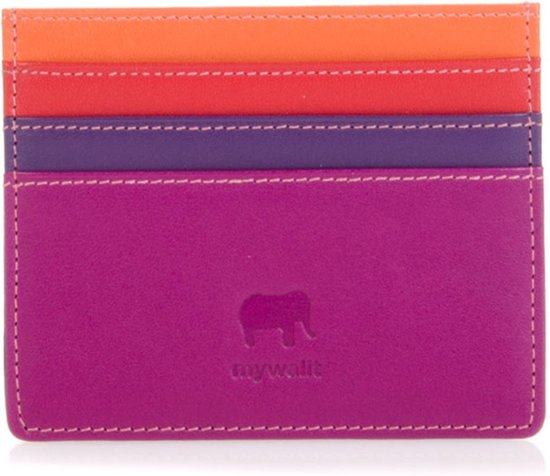 601a4ee4b2c Mywalit Double Sided Credit Card Holder Pasjeshouder Sangria Multi  MYW-160-75-N