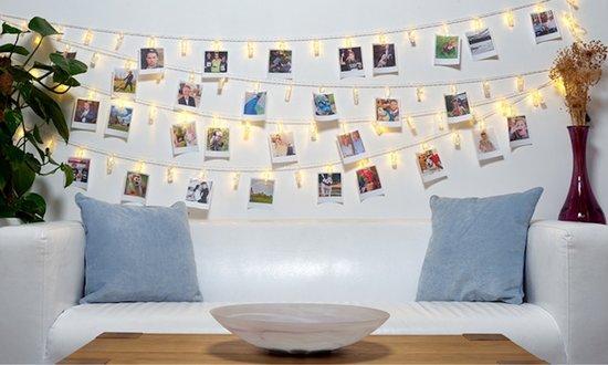 Fotoslinger met Verlichting - 2.5 meter - Warm Wit
