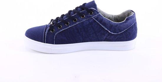 Schoenen Blauw Manzotti Laag Sneakers Katoenen Van Heren vqIR7I