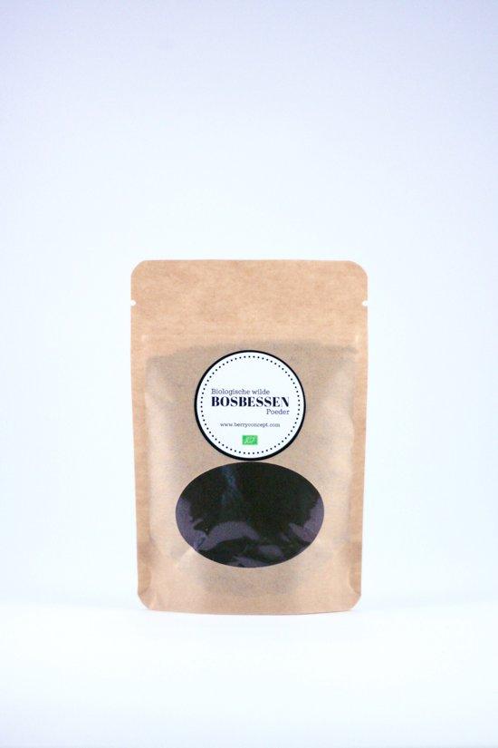 Biologische wilde bosbessen poeder 50 gram