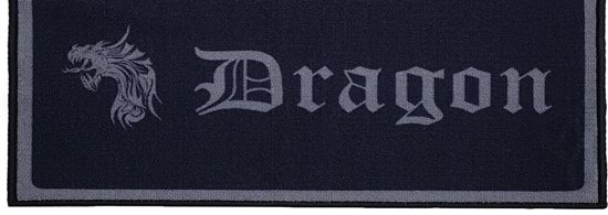 Dragon Darts - darmat - finish dartmat - 300*80 - zwart-antraciet