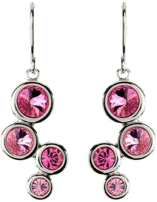 Oorbel hanger met swarovski elements roze