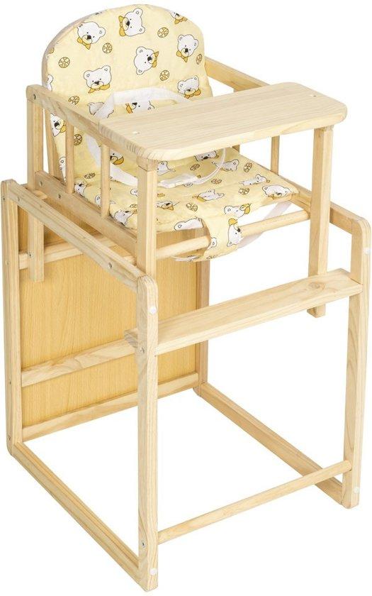 Kinderzitje Aan Tafel.Kinderstoel Tectake Blank Hout Inclusief Tafel Geel