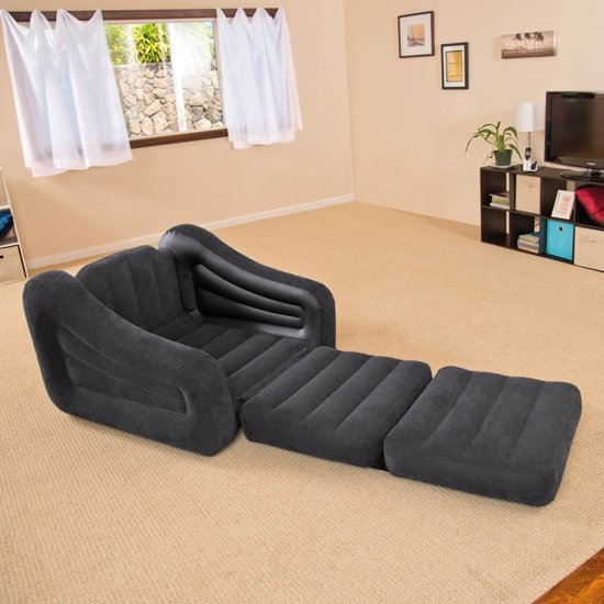 Intex opblaasbare stoel / bed 107 x 221 x 66 cm 1 persoon 68565NP