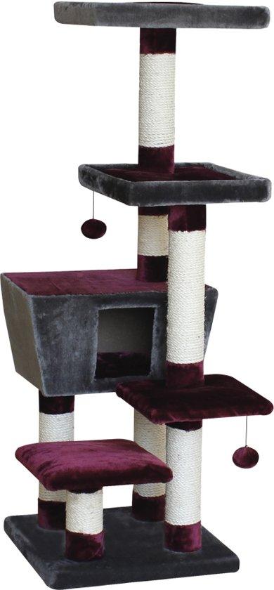 Nobby - Krabmeubel - Montega - Bordeaux/Antraciet - 48 x 48 x 141 cm