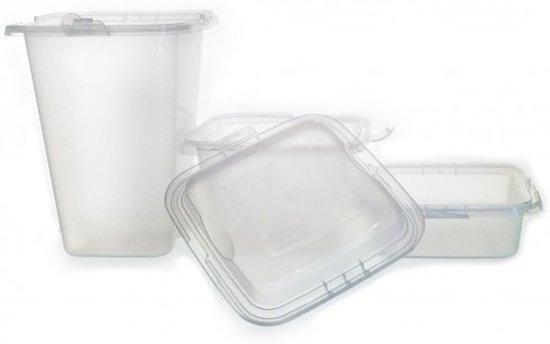 Set plastic doosjes 20 delig for Plastic doosjes