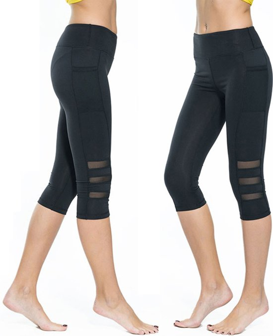 Driekwart Sportlegging.Bol Com Yoga Fitness Legging Driekwart Zwart M