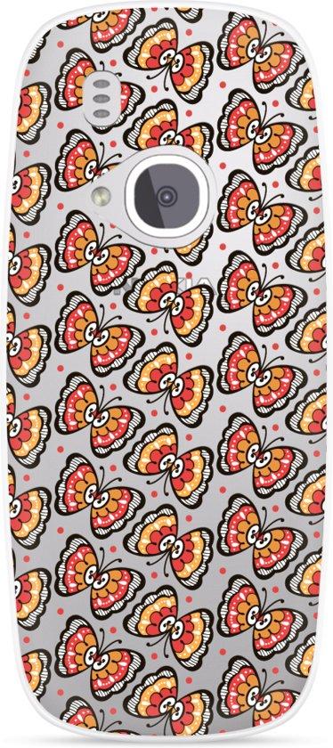 Nokia 3310 (2017) Hoesje Butterflies