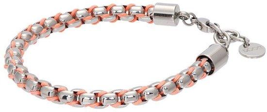 iXXXi Armband Ibiza orange Zilverkleurig - maat 17-20
